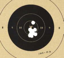 Shot paper airgun target