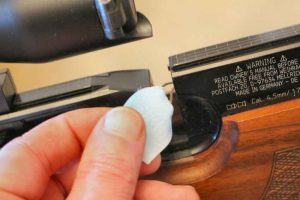 How to clean a PCP air rifle barrel with a pull through