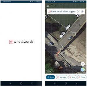What3words location app on shooting permission