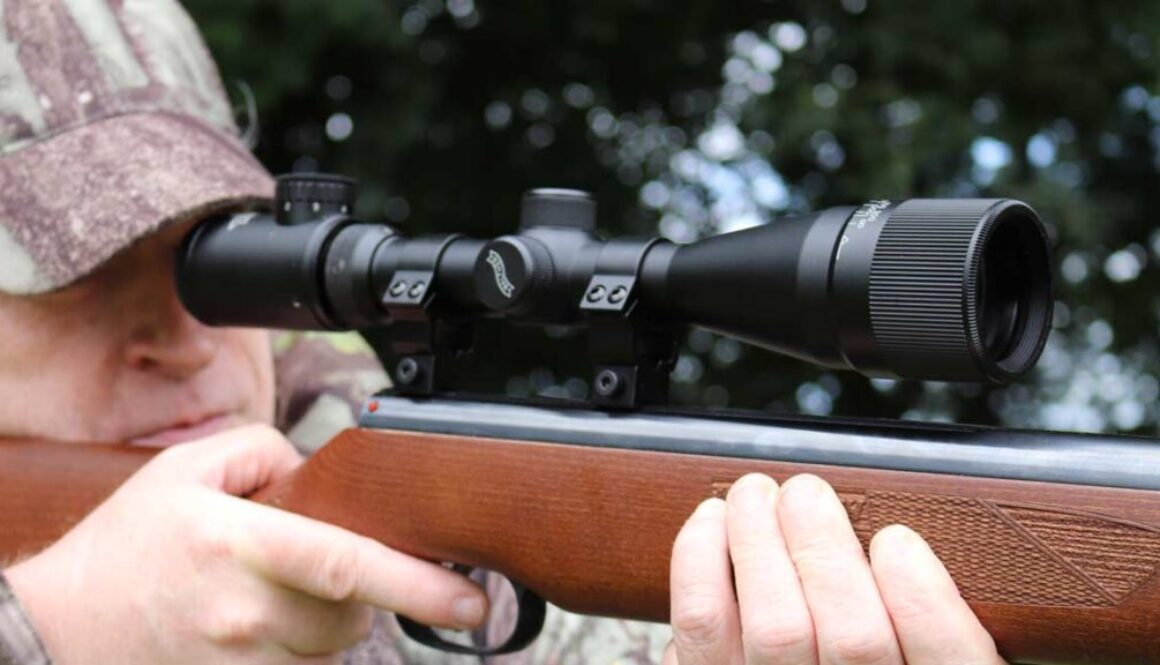 Walther Rifle Scope on an Airgun